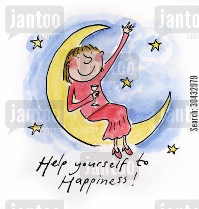 twenties cartoon humor: Help yourself to happiness!