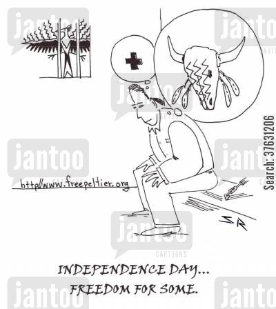 injustice cartoon humor: Independence Day For Some.