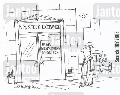 new york stock exchange cartoon humor: Hier gesprochene Enlglisch.