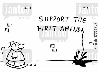 first amendment cartoon humor: Support the First Amend...