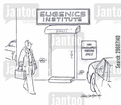 notices cartoon humor: Non handicapped parking only.