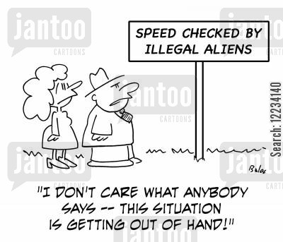 speed checks cartoon humor: 'I don't care what anybody says -- this situation is getting out of hand!'