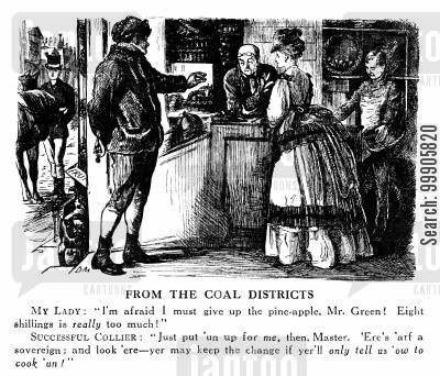 income cartoon humor: Colliers and the Coal Districts