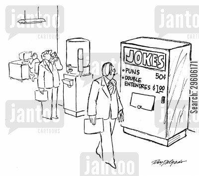 funny cartoon humor: Jokes machine.
