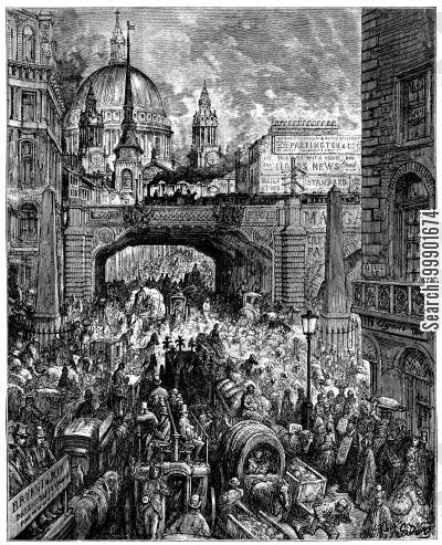 stock exchange cartoon humor: 'Ludgate Hill'