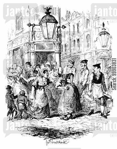 victorian seven dials cartoon humor: Sketches by Boz - Seven Dials