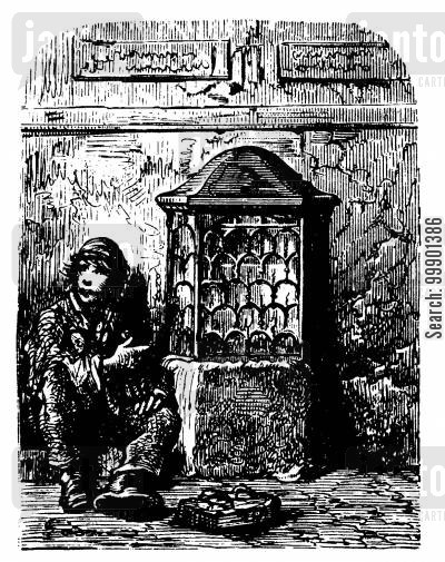 victorian cartoon humor: Street Urchin