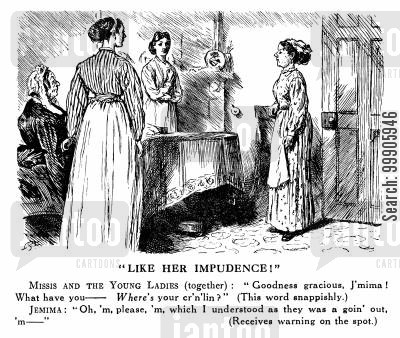 victorians cartoon humor: Mistresses and Servants