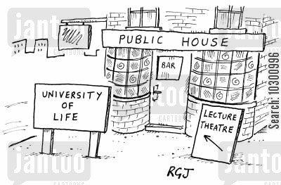 experienced cartoon humor: University of Life
