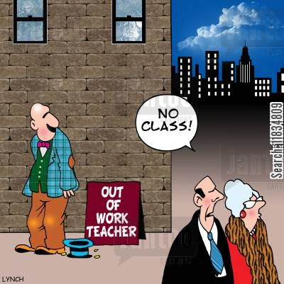 middle classes cartoon humor: 'No class!'