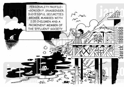 oblivion cartoon humor: A Prominent Member of the 'Effluent Society