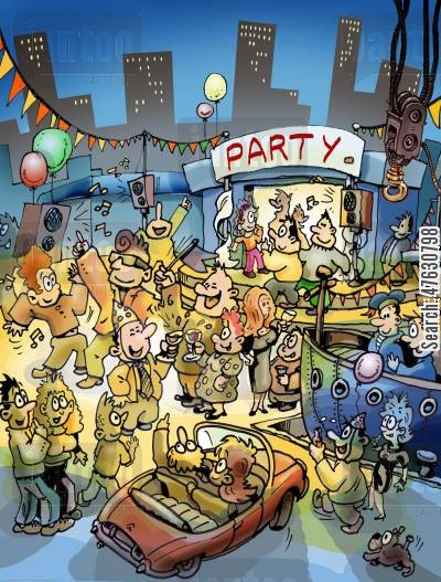 party time cartoon humor: Party Time!
