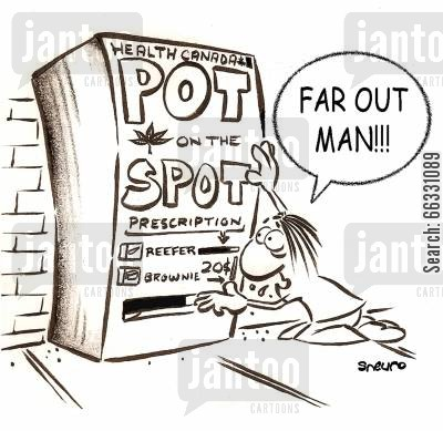 dispensing cartoon humor: Far out Man! A pot machine!