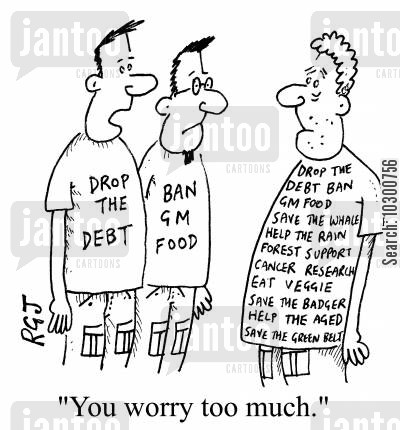 drop the debt cartoon humor: You worry too much