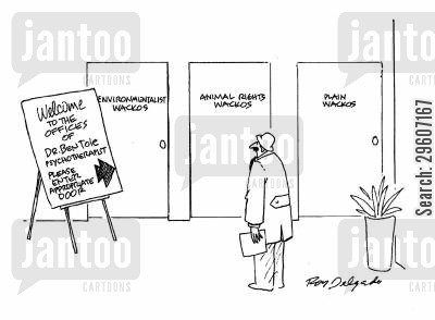 psychotherapist cartoon humor: Please enter appropriate door.