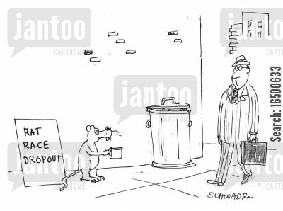 dropping out cartoon humor: Rat Race Dropout