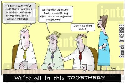 class divide cartoon humor: We're All In This Together?