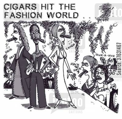 runway cartoon humor: Cigars Hit The Fashion World ...