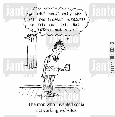 get a life cartoon humor: 'If only there was a way for the socially inadequate to feel like they had friends and a life.'
