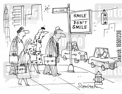 the rush hour cartoon humor: Smile-Don't Smile