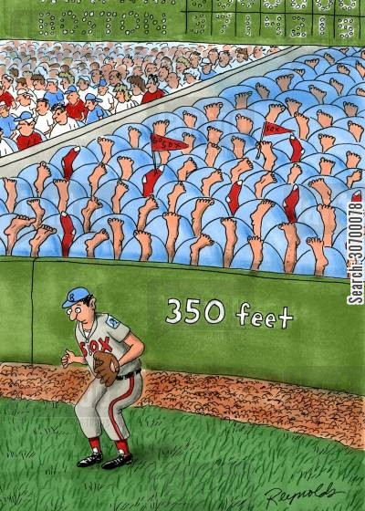 spectators cartoon humor: 350 Feet.