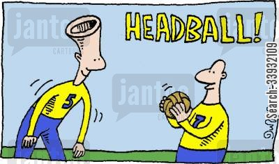 team sports cartoon humor: Headball!