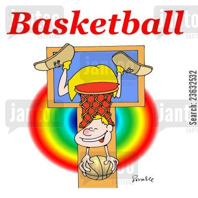basketball player cartoon humor: Basketball.