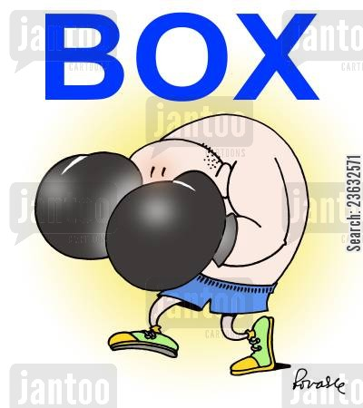 prize fighters cartoon humor: Box.