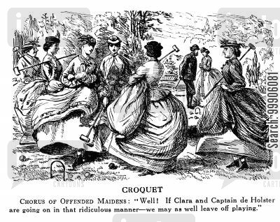 wimbledon 1870 cartoon humor: Croquet