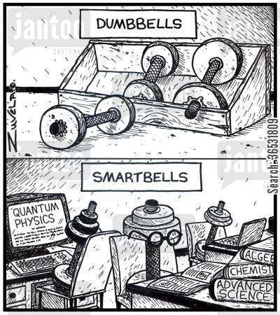 studying cartoon humor: DumbbellsSmartbells.