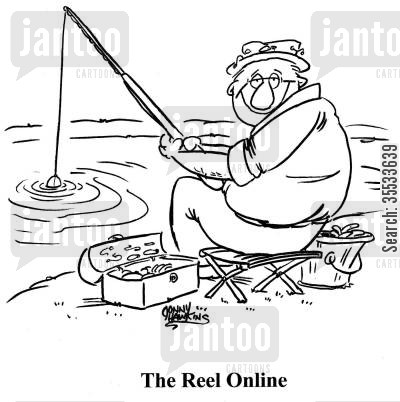 reeling cartoon humor: The Reel Online