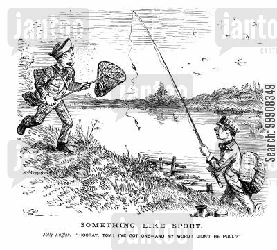 anglers cartoon humor: Something Like Sport.