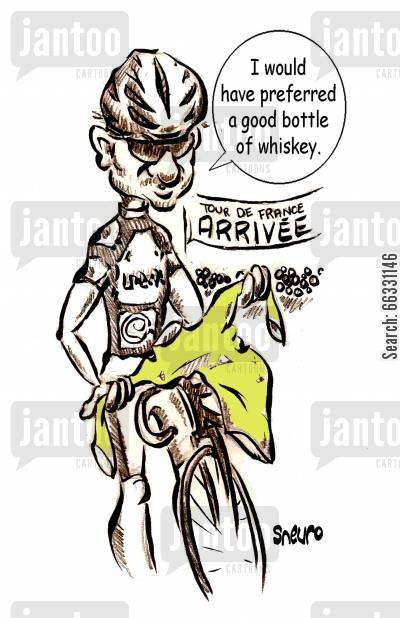 floyd cartoon humor: Floyd Landis: I would have preferred a good bottle of whiskey.