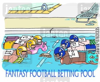 football game cartoon humor: Fantasy Football Betting Pool,