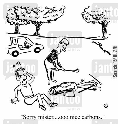 fore cartoon humor: Sorry Mister...Oh nice carbons