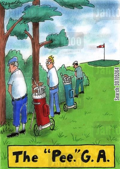 tournaments cartoon humor: 'The 'Pee'.G.A.'