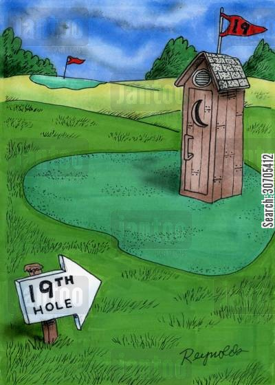 golf matches cartoon humor: 19th Hole.