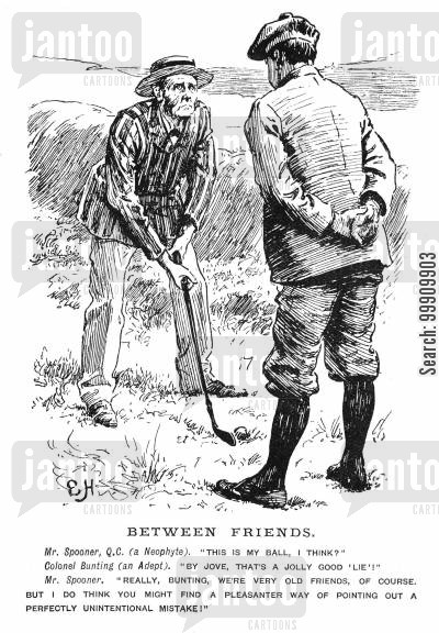 neophyte cartoon humor: Golfers