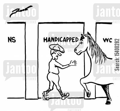 handicapped cartoon humor: 'Handicapped'