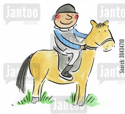 jockeys cartoon humor: Horsey