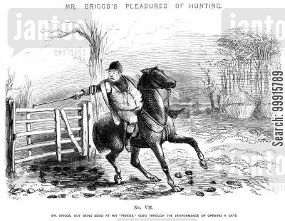 huntsmen cartoon humor: Mr Briggs's Pleasures of Hunting - No. VII