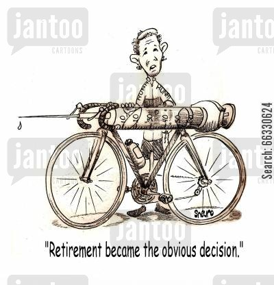 steroids cartoon humor: Retirement became the obvious decision.