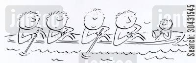 thames cartoon humor: Rowers.