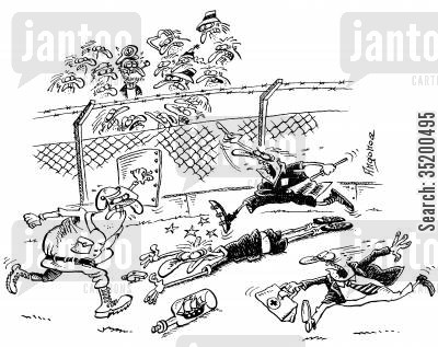 first aid cartoon humor: Referee knocked unconscious at football match by a ship in a bottle thrown by a sailor