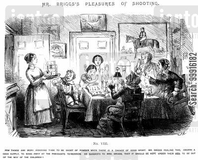 gunpowder cartoon humor: Mr Briggs's Pleasures of Shooting - No. VIII
