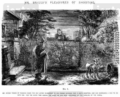 barking cartoon humor: Mr Briggs's Pleasures of Shooting - No. I
