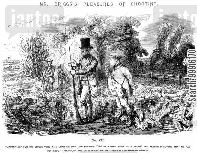 partridges cartoon humor: Mr Briggs's Pleasures of Shooting - No. VII