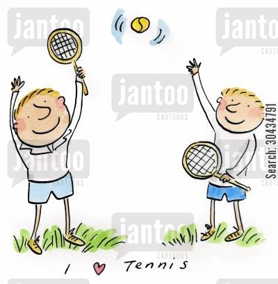 tennis competitions cartoon humor: I love Tennis