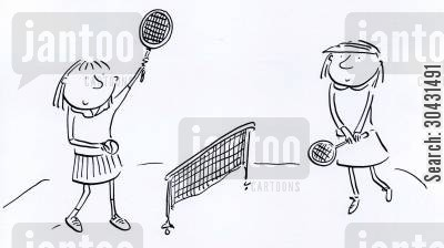 ballboy cartoon humor: Tennis.