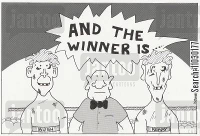 john kerry cartoon humor: AND THE WINNER IS ....